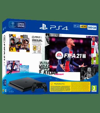 consola PS4 com jogo FIFA 21