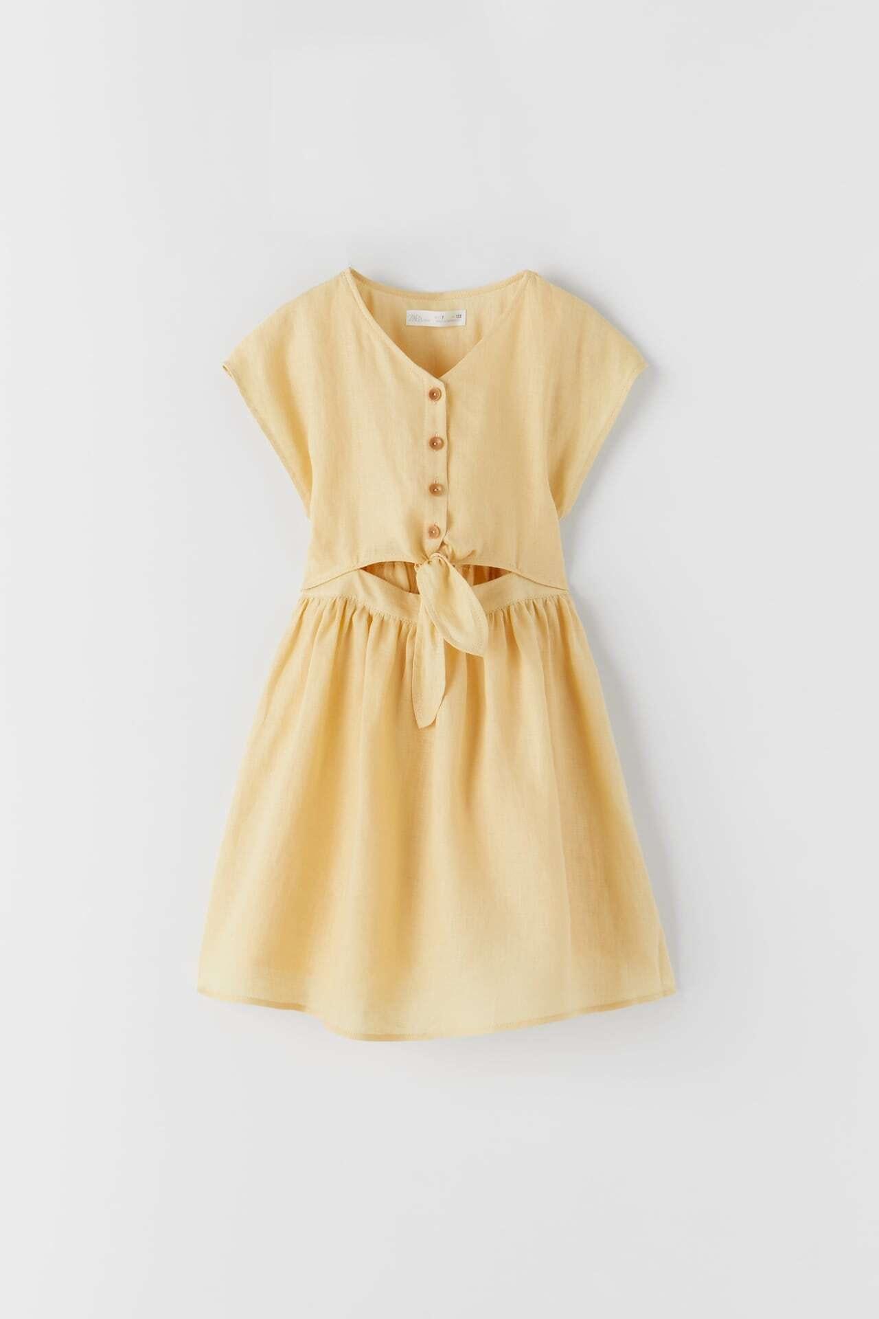 vestido de criança amarelo da Zara kids