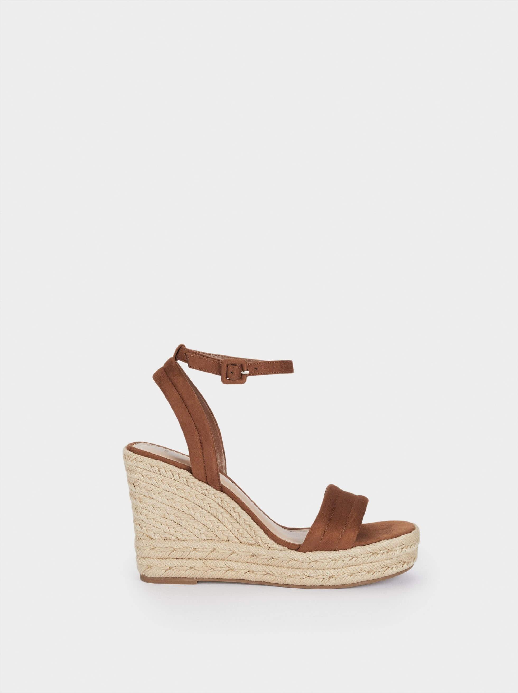 Sandálias castanhas de plataforma da Parfois